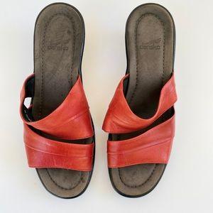 DANSKO leather slip on mule